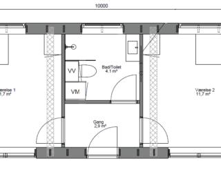 40 m2 pavillon med lærk